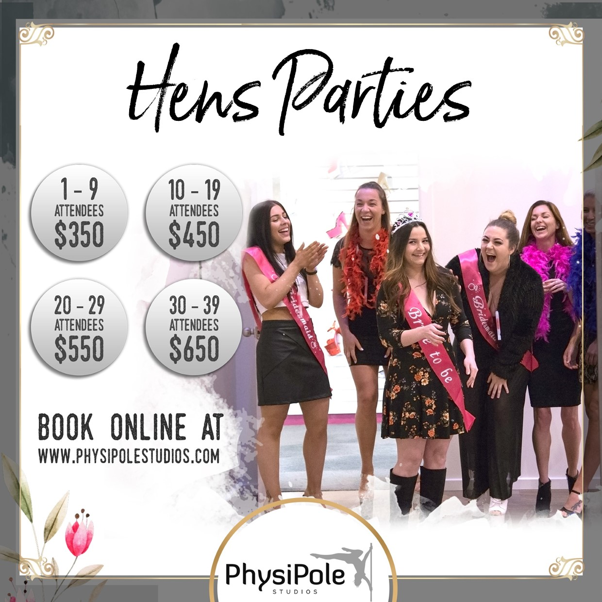 PhysiPole Hens Parties Facebook Square