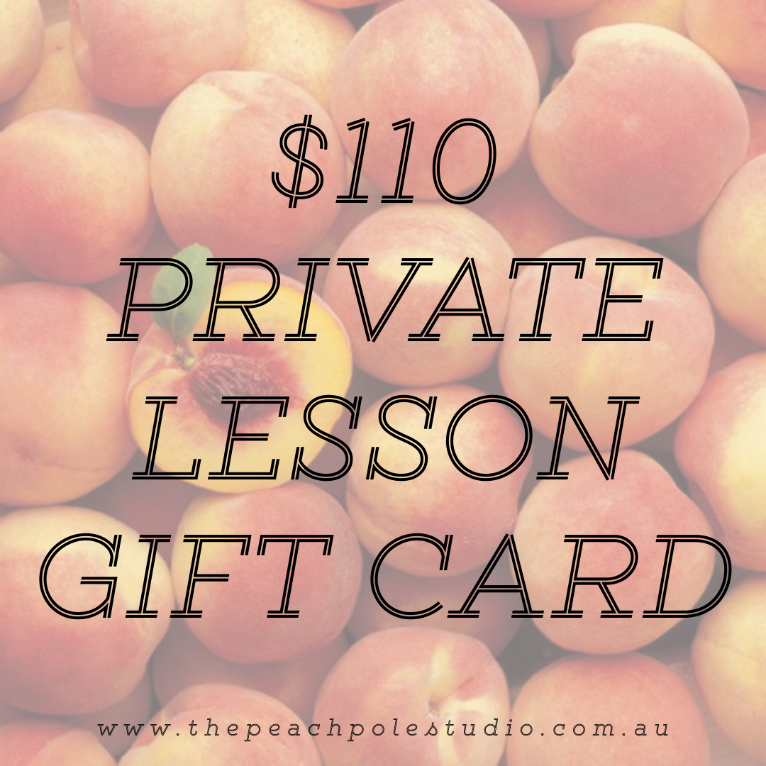 $110 Private Lesson Gift Card